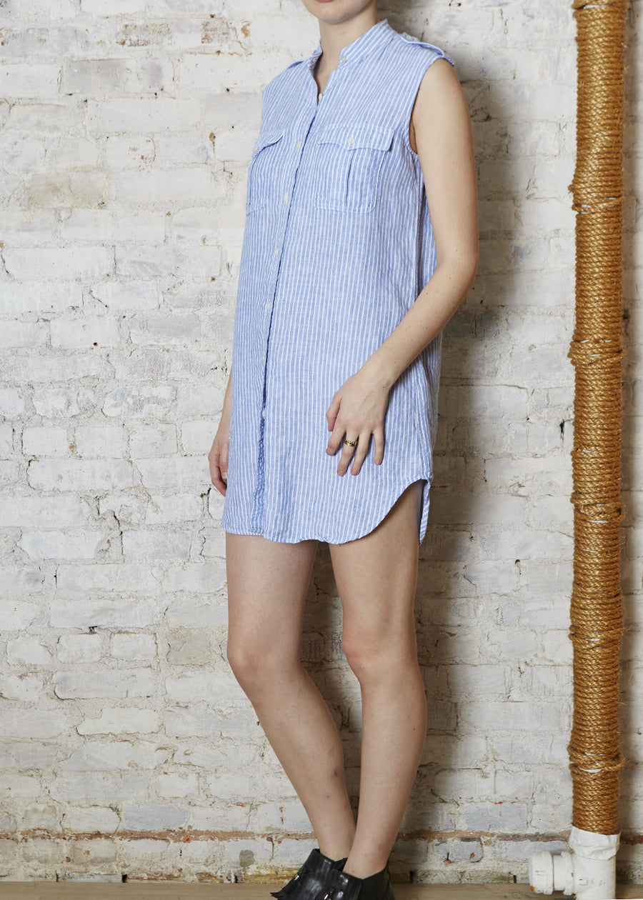 S/L Washed Linen Dress (X-Small Only)