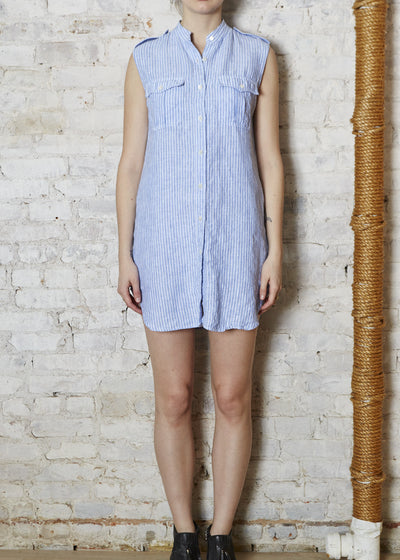 S/L Washed Linen Dress-Small