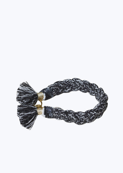 Black Multi Braided Terra Bracelet