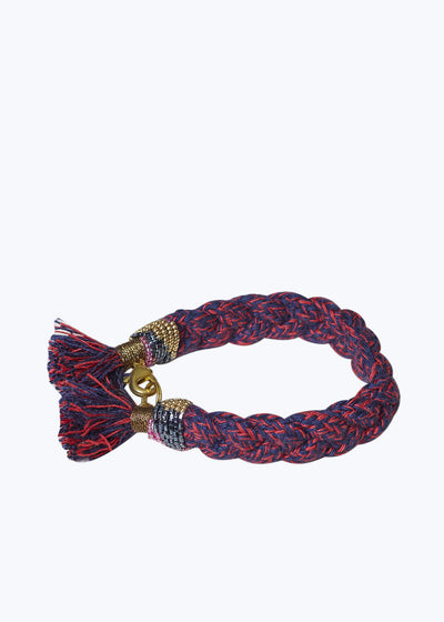 Red/Navy Braided Terra Bracelet