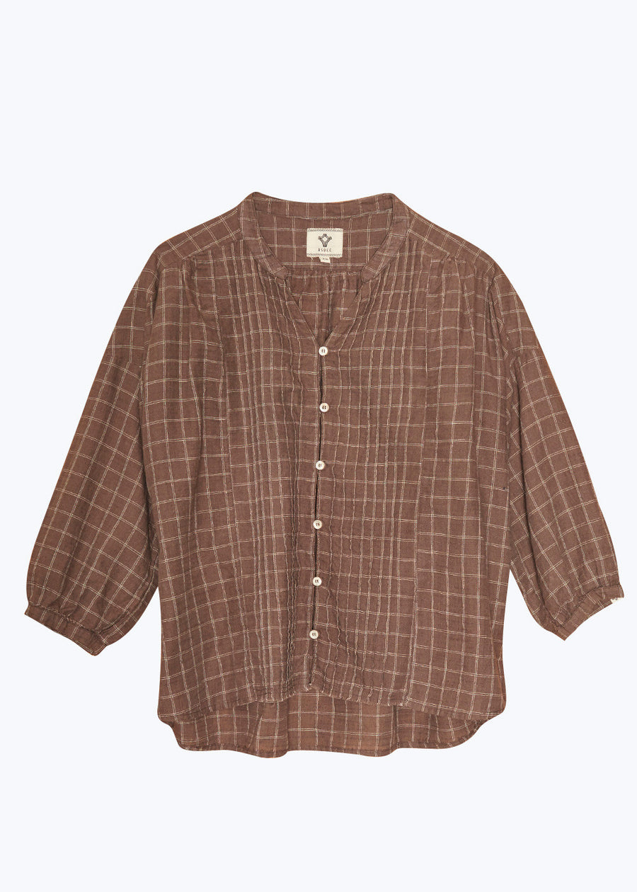 Brown Cimilia Woven Shirt - Small