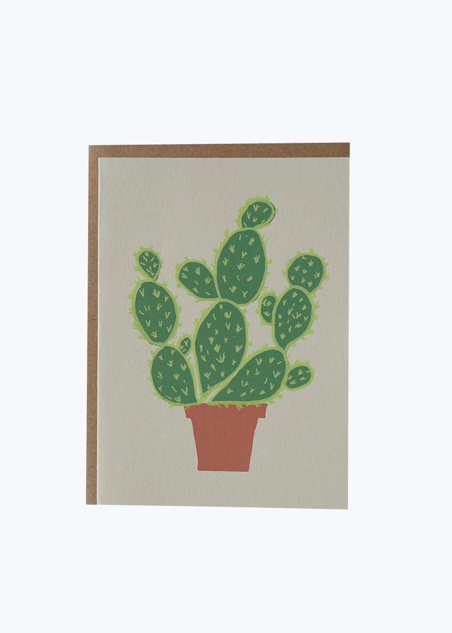 Potted Cactus Card