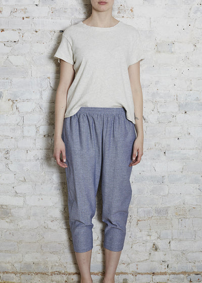 Chambray Easy Pant-Large (Last One)