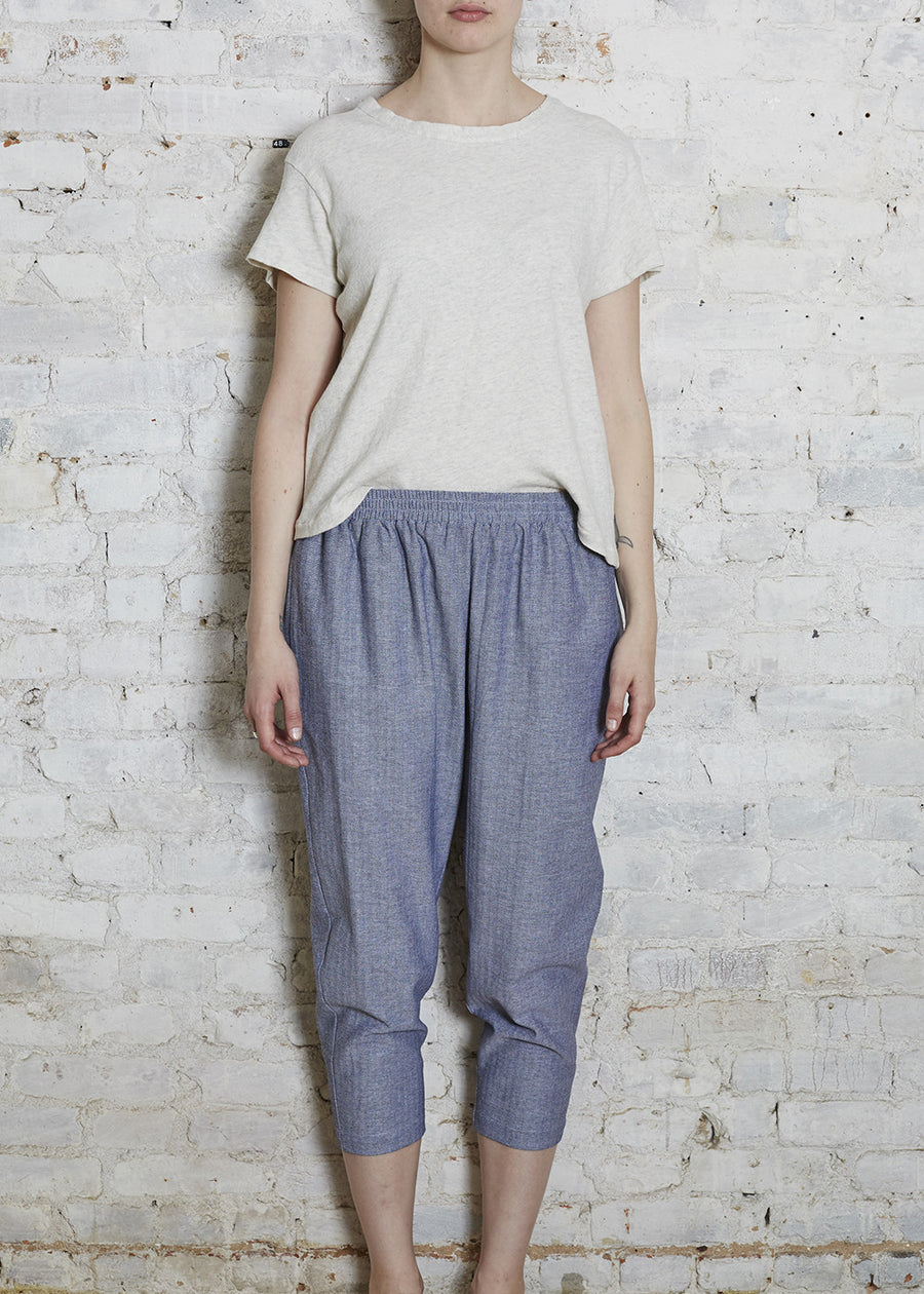 Chambray Easy Pant-Large (Last Size)