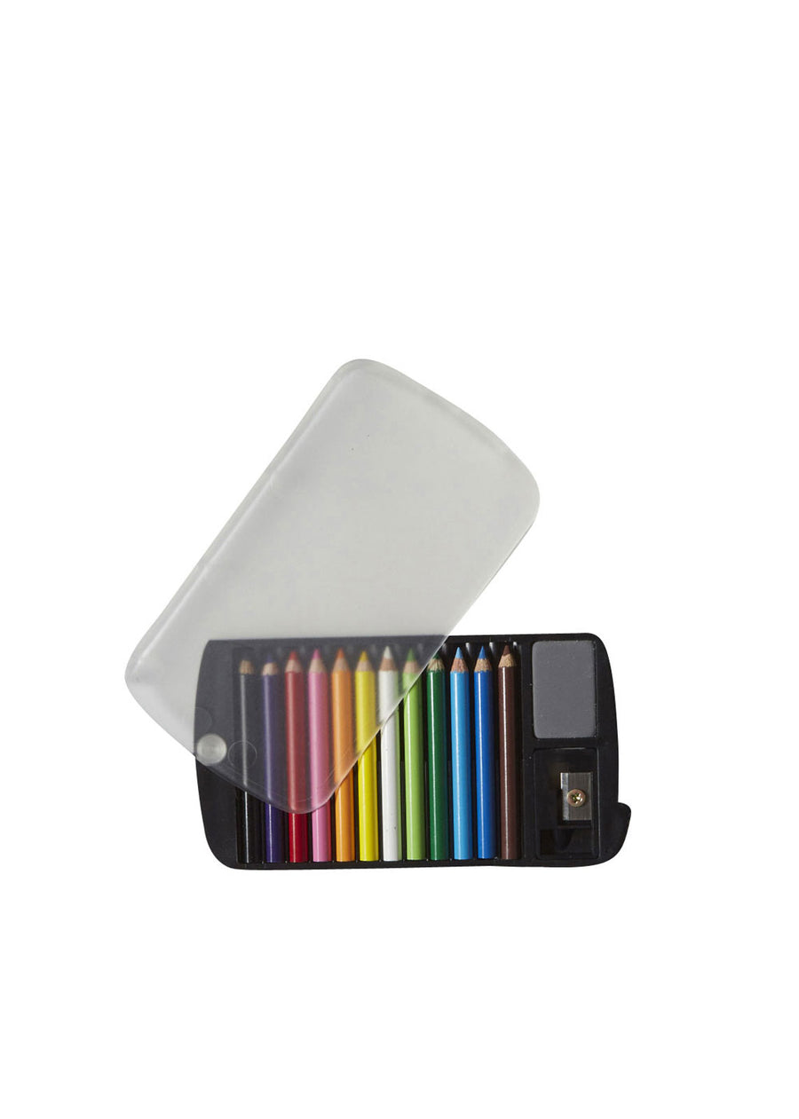 Mini Color Pencils/Case/Sharpener