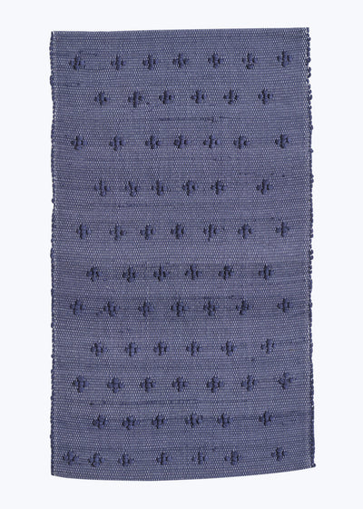 Navy Cross Knot Portuguese Bath Mat