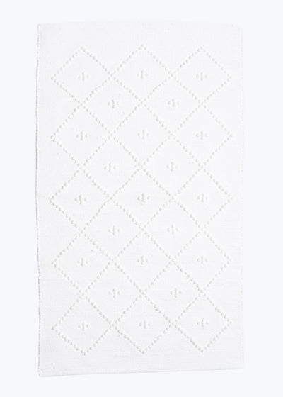 White Diamond Portuguese Bath Mat