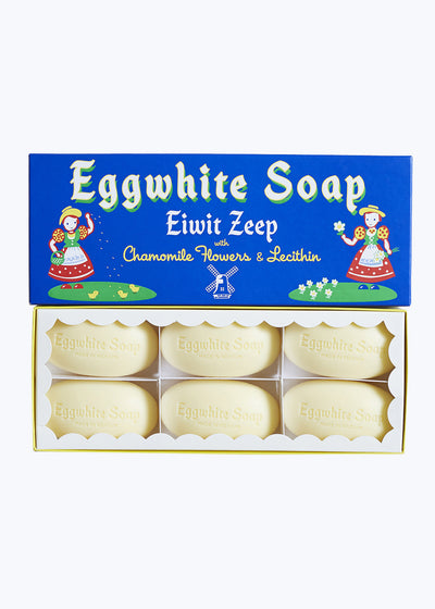 Eggwhite & Chamomile Flower Soap 6 Bar Set