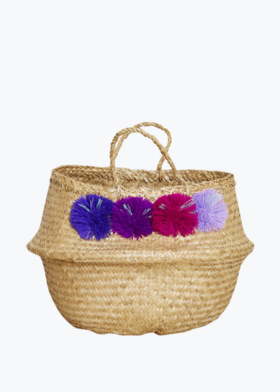 Twilight Venice Pompom Basket-Medium