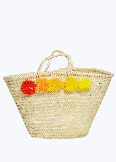Red/Yellow Topanga Pompom Basket