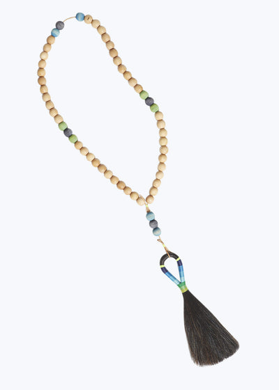 Worry Beads w/ Black Horse Hair Tassel