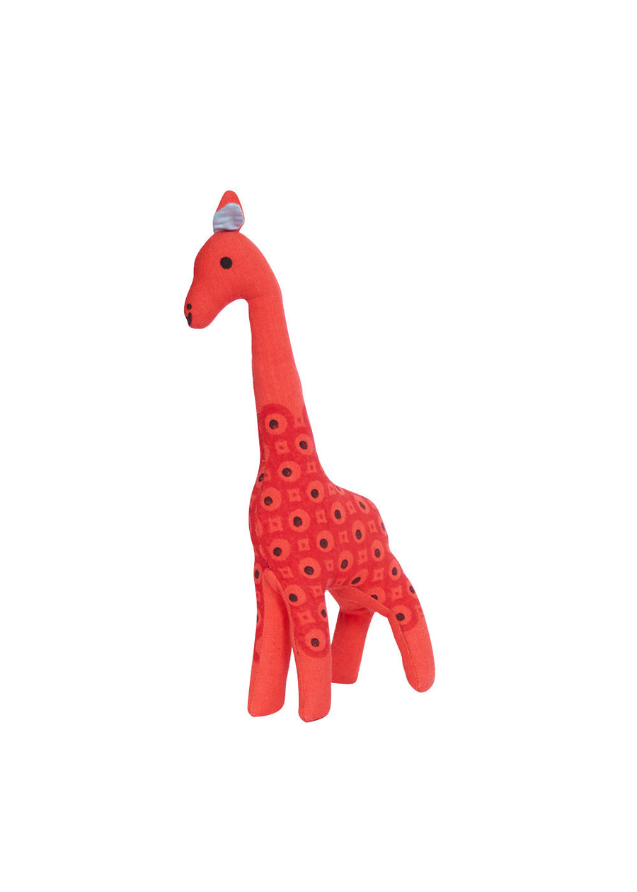 Neon Red Indian Giraffe-Large