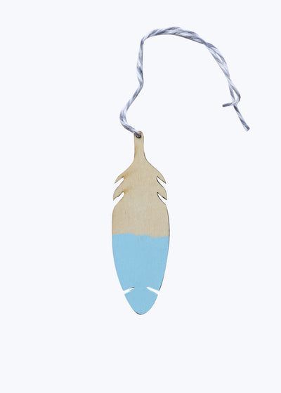 Blue Feather Tag