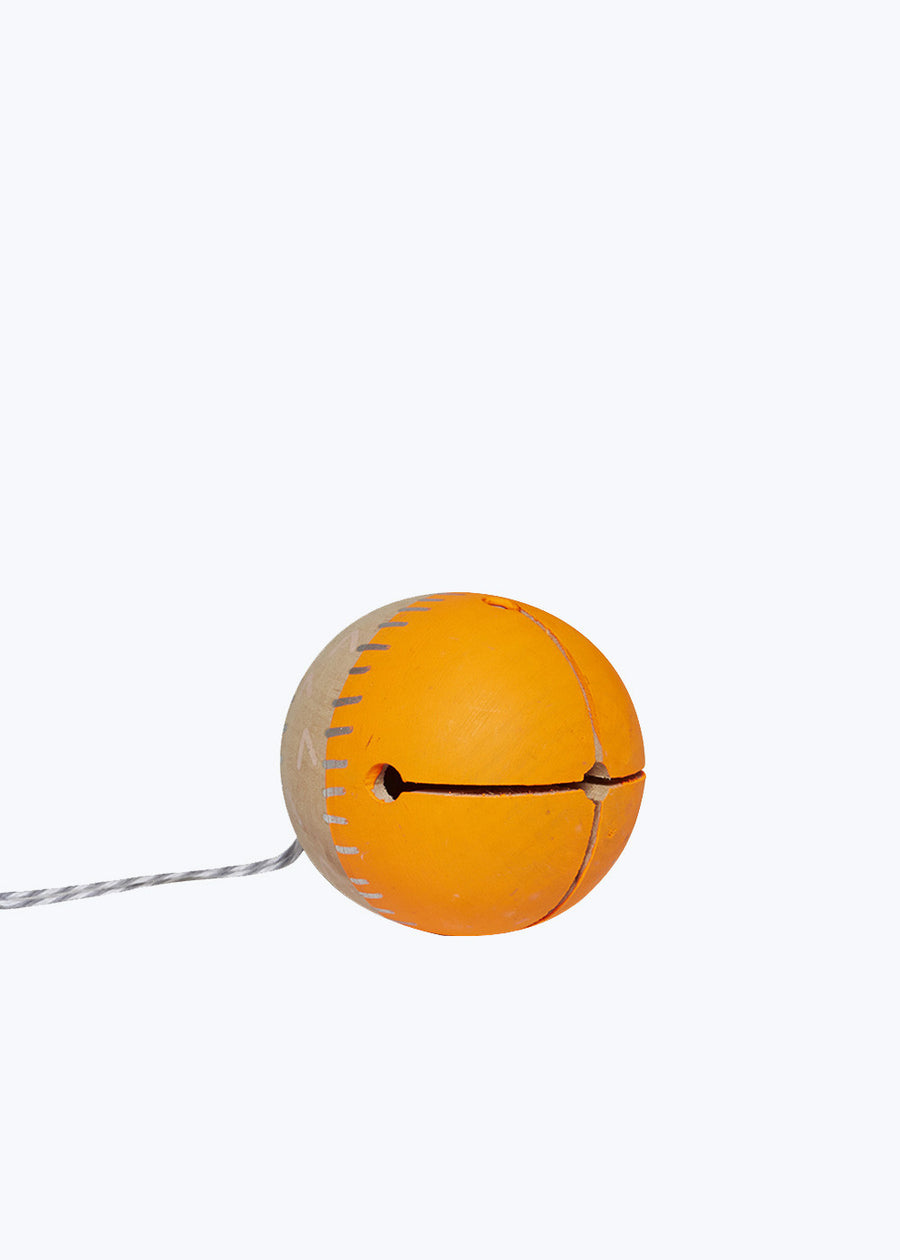 Neon Orange Wood Ding Bell