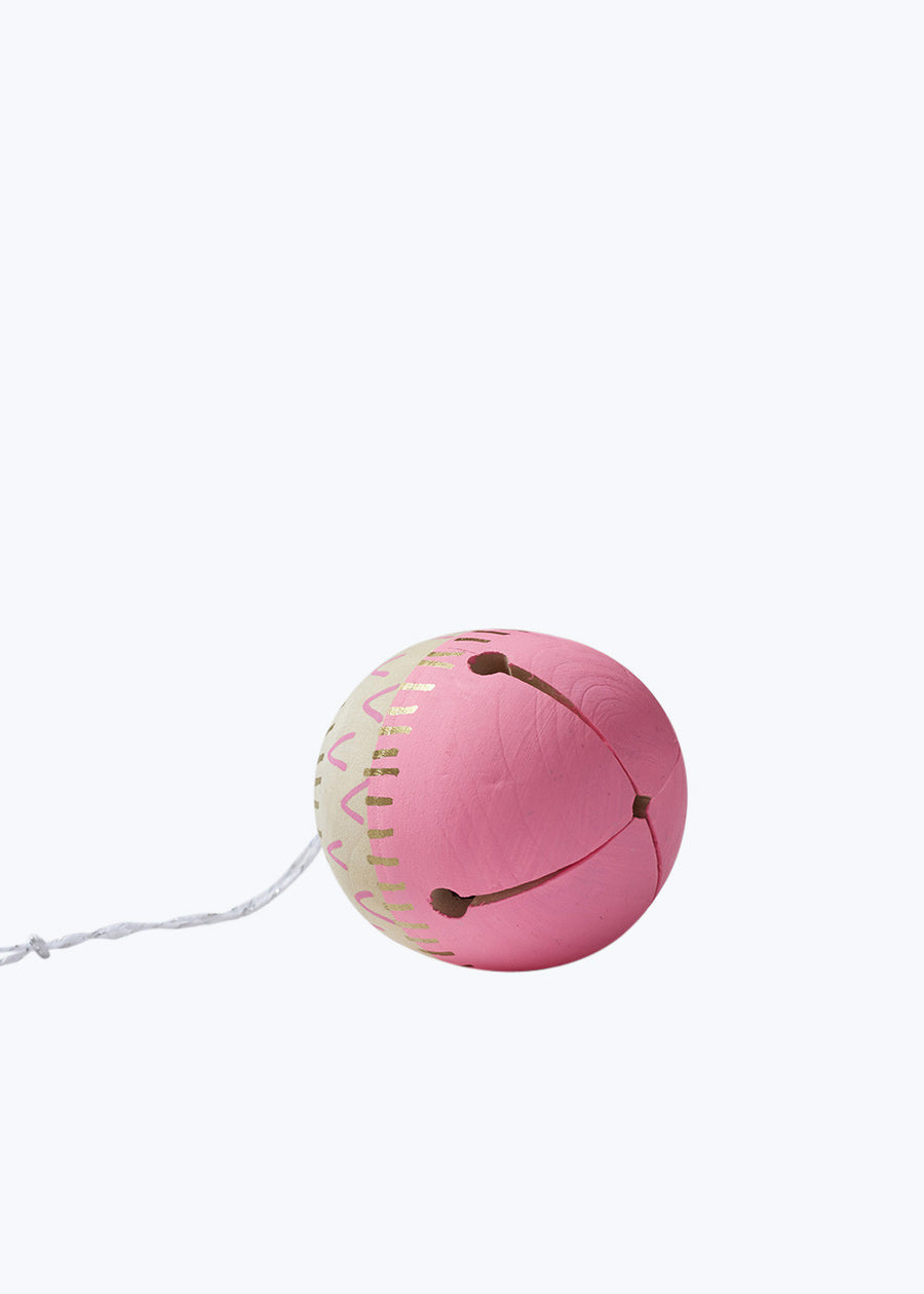 Pink Wood Ding Bell