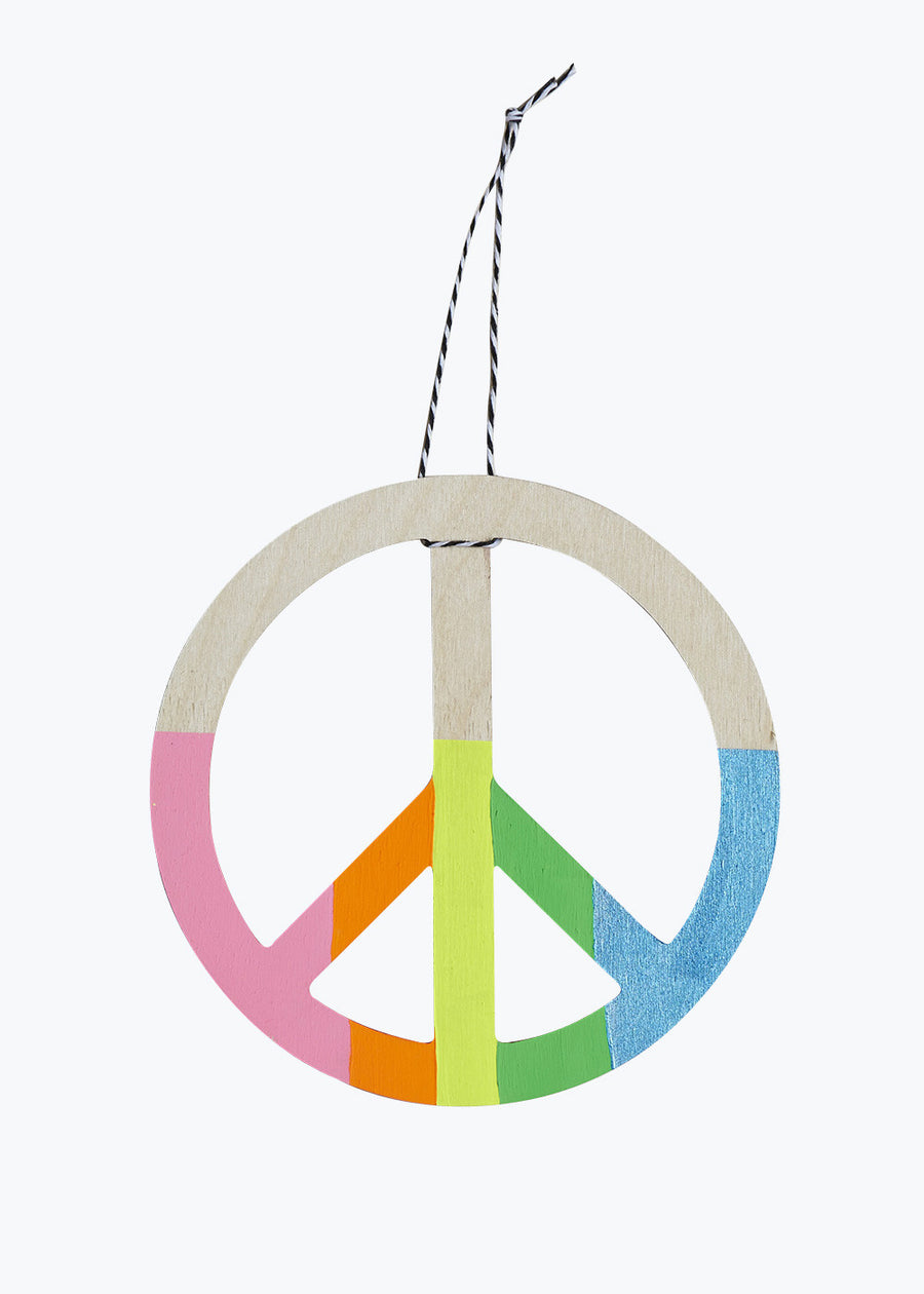 Rainbow Peace Sign Wall Charm