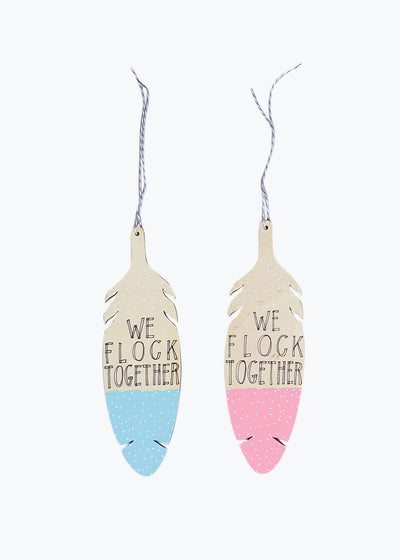 Lt. Blue Flock Together Wall Charm
