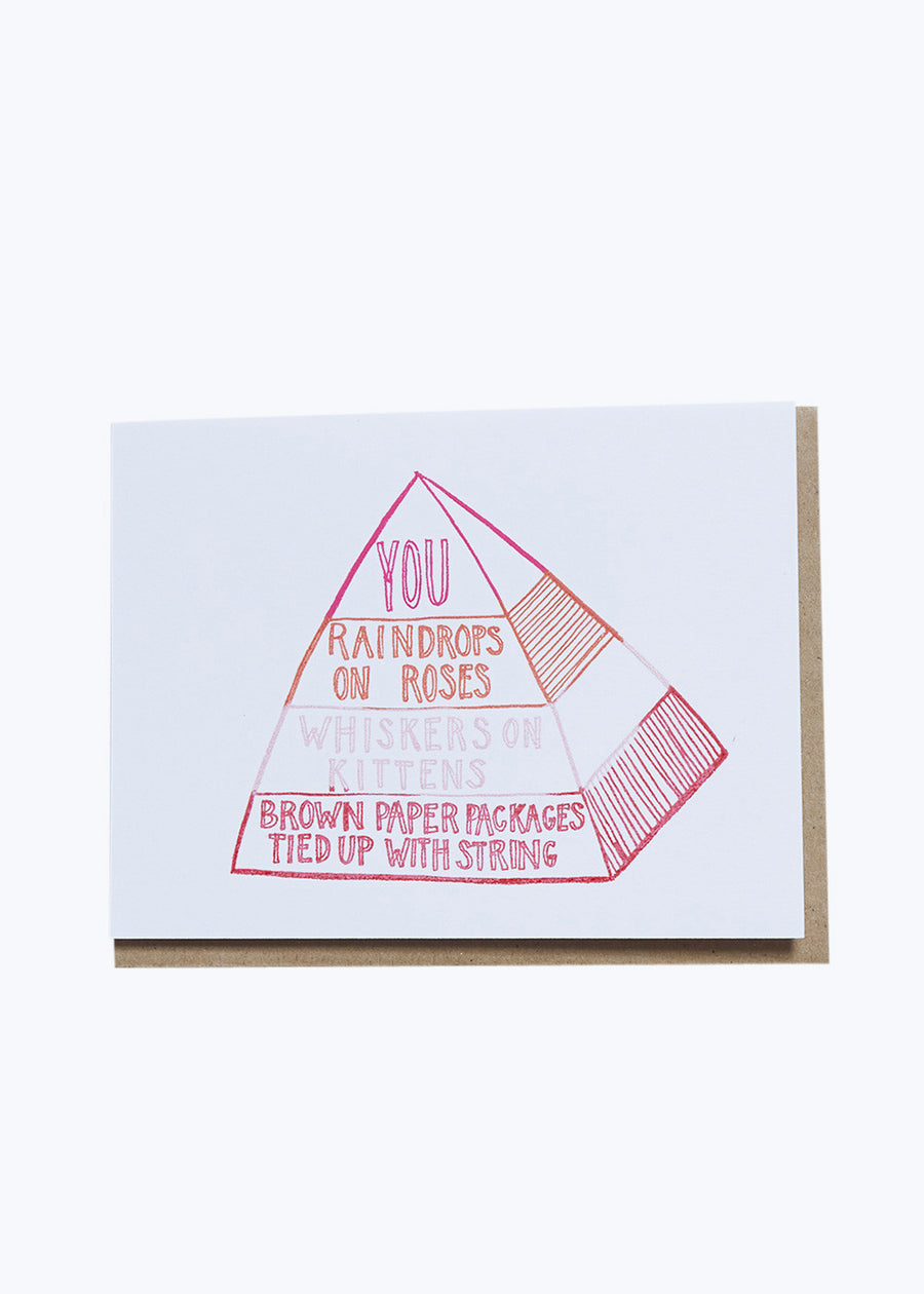 Favorite Things Pyramid Card