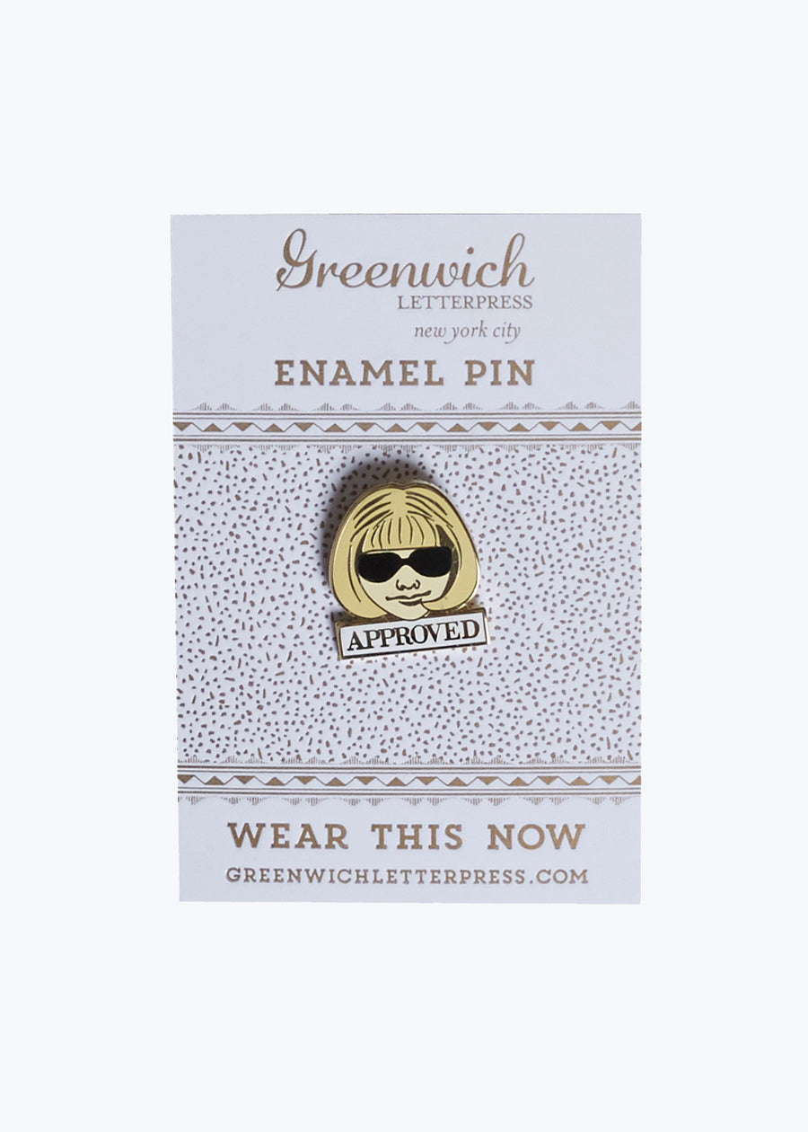 Approved Enamel Pin
