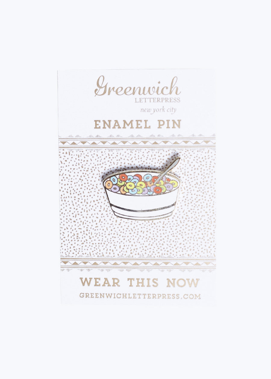 Cereal Enamel Pin