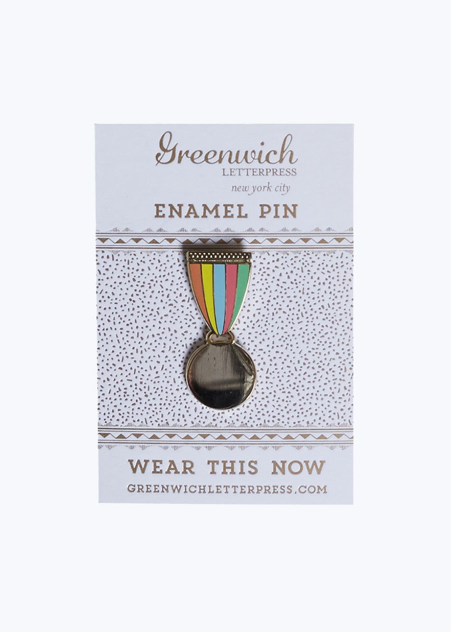 Gold Medal Enamel Pin