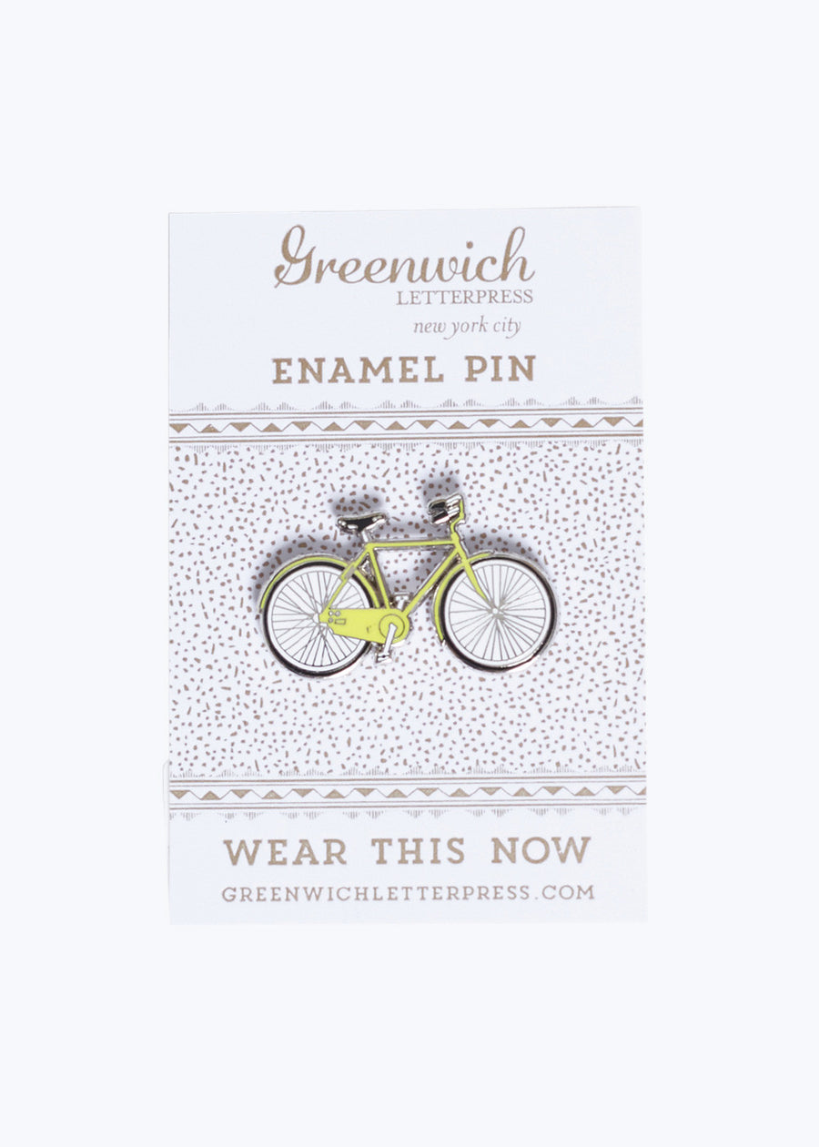 Yellow Bicycle Enamel Pin