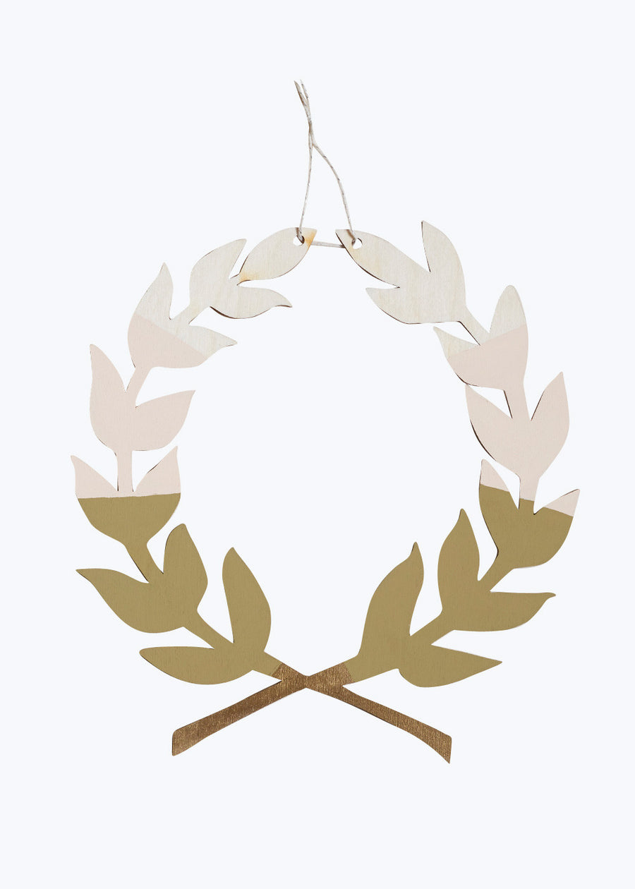 Moss Laurel Wreath Wall Charm