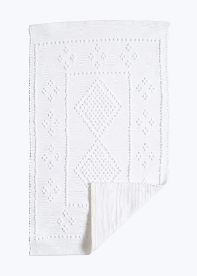 White Rectangle Portuguese Bath Mat