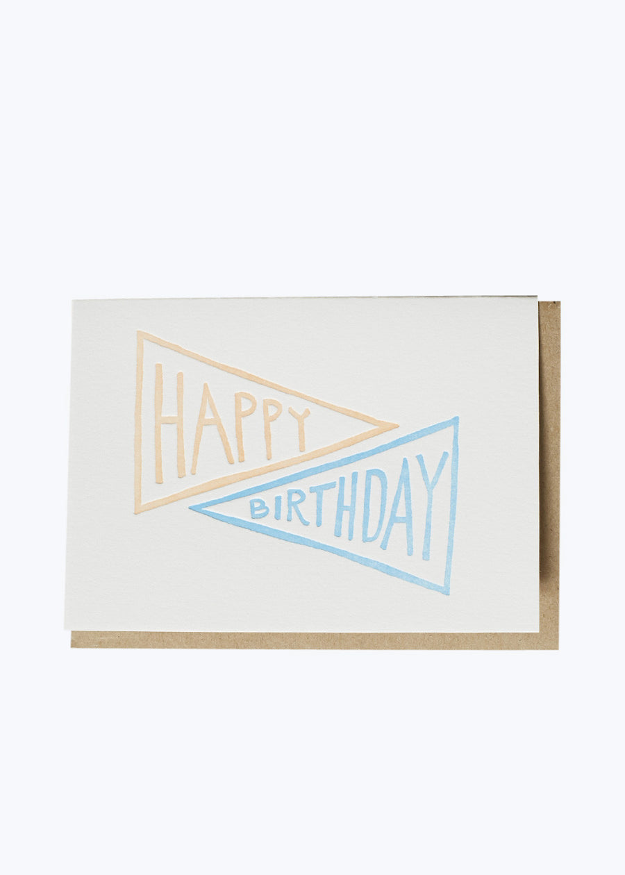 Birthday Pennant Poppy Card