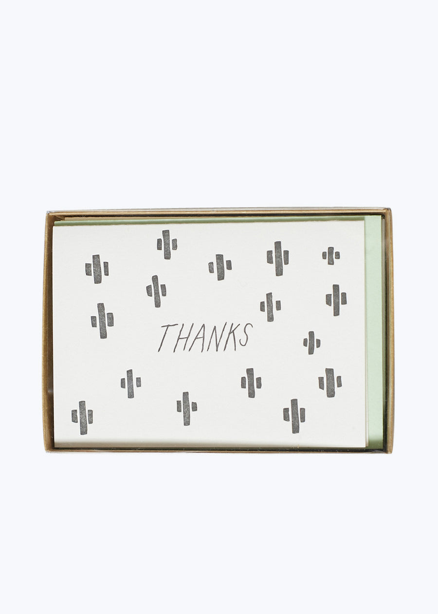 Black Cactus Thank You Card Set