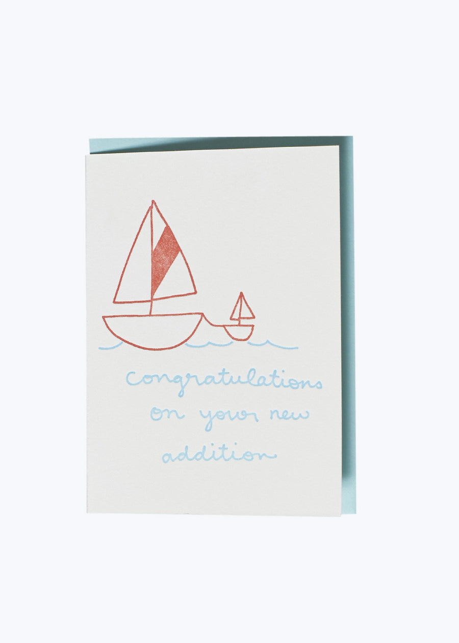 Sailboat New Addition Card