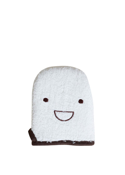 Cotton Pile Smile Bath Mitt