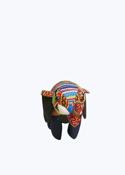 Colorful Hmong Fabric Elephant