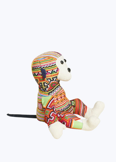 Colorful Hmong Fabric Monkey