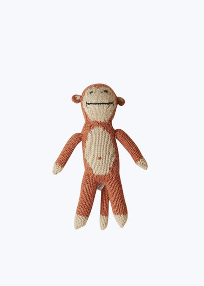 Handknit Monkey Stuffed Animal