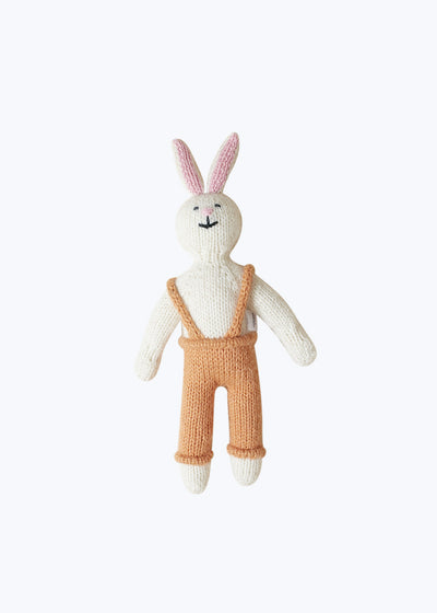 Orange Handknit Bunny Stuffed Animal