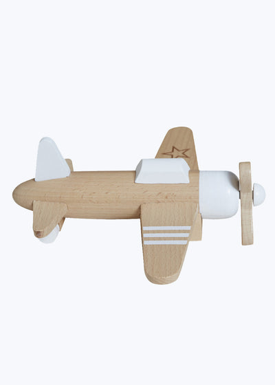White Propeller Airplane