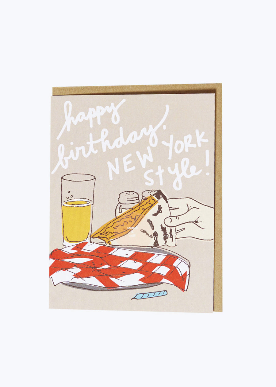 NYC Pizza Bday Card