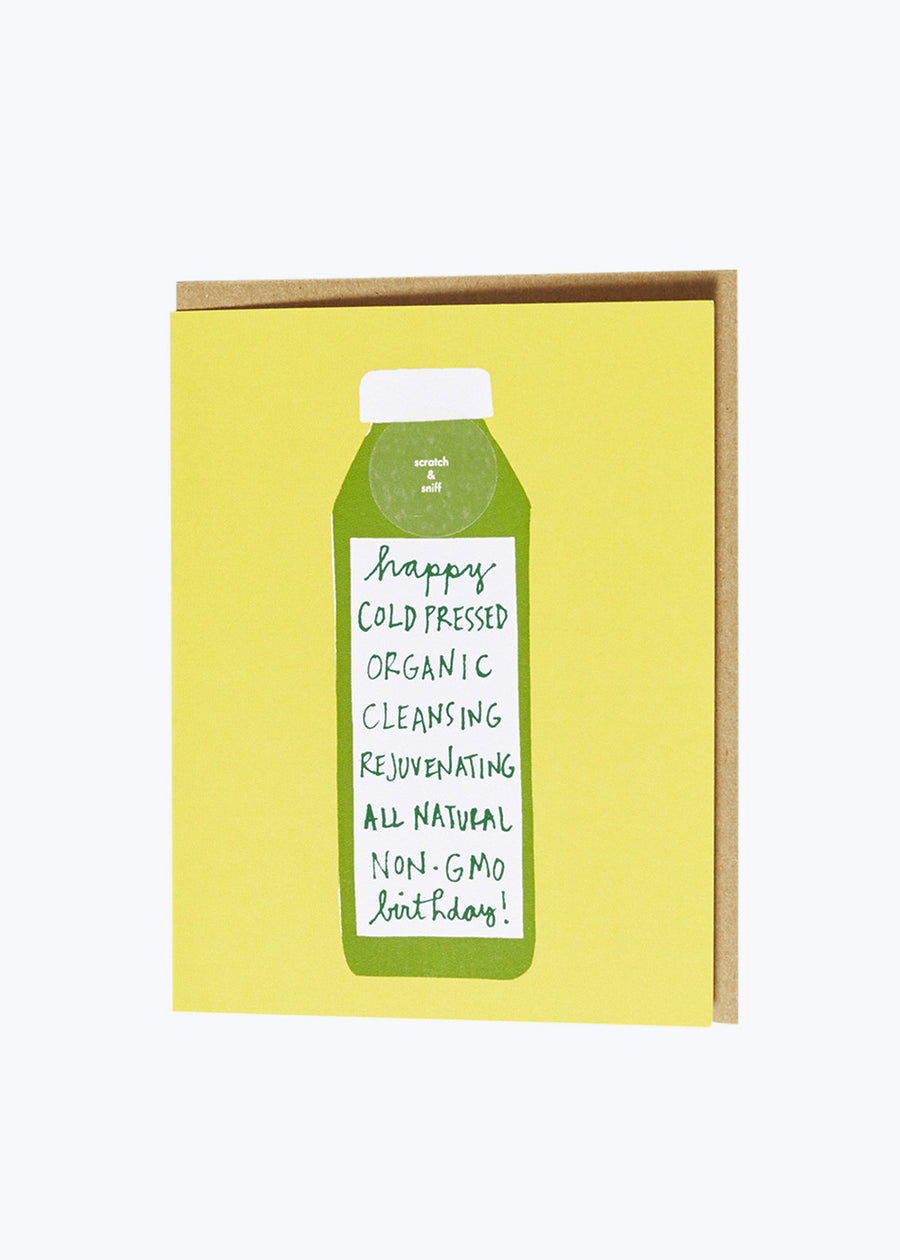 Scratch & Sniff Cold Pressed Card