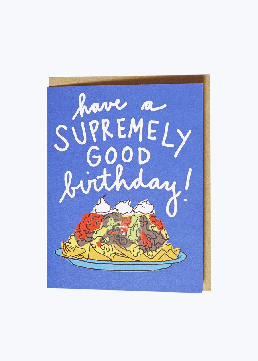 Scratch n Sniff Nacho Birthday Card