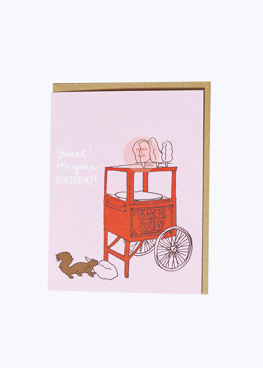 Scratch & Sniff Cotton Candy Card