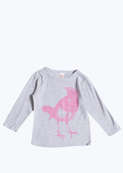 Pink Baby Bird L/S Thermal Tee