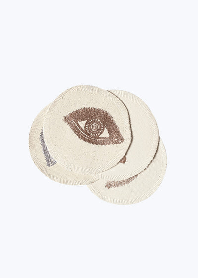 Silver/Gold Foil Eyes Coaster Set of 4