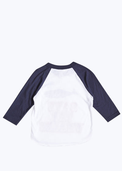Kids Save The Whales Raglan Tee