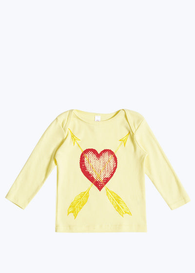 Lemon/Red Baby Love & Arrows Tee