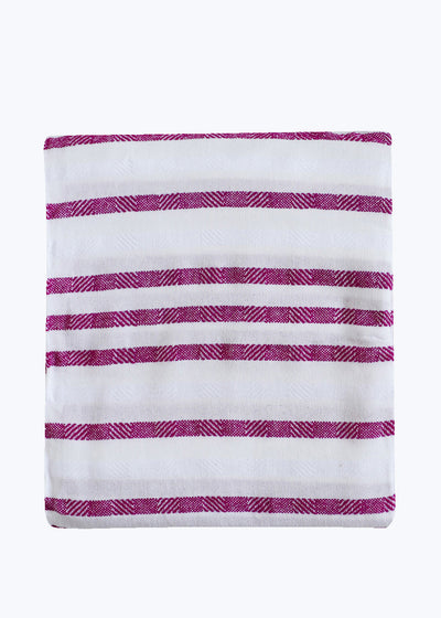 Fuchsia Stripe Beach Blanket