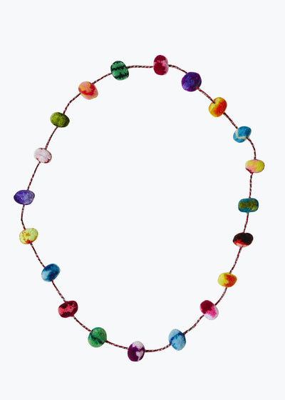 Colorful Pom Pom Necklace