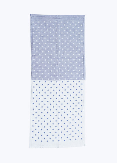 Blue Polka Dot Chambray Hand Towel