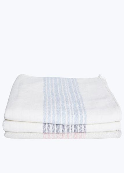 Navy/Ivory Organic Cotton Bath Towel