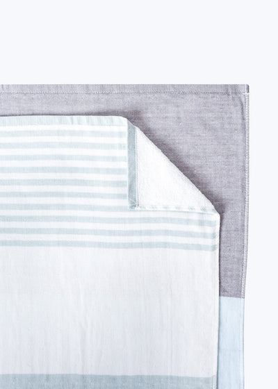 Gray Tricolor Chambray Hand Towel